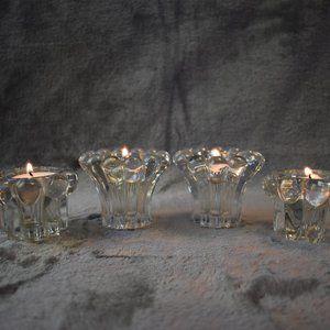 VTG West Germany Crystal Candle Holders Set of 4